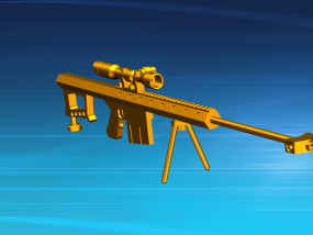 巴雷特狙击枪 3D模型