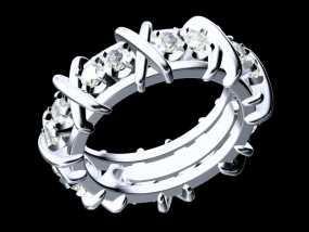 钻石圈戒10# 3D模型
