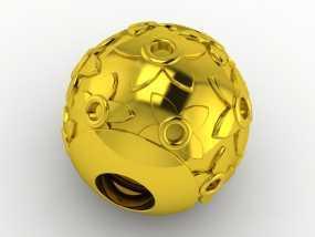 花纹珠 3D模型