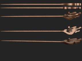 龙首木簪 3D模型