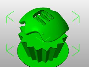 双色蛋糕 3D模型