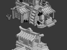 古建筑药房 3D模型
