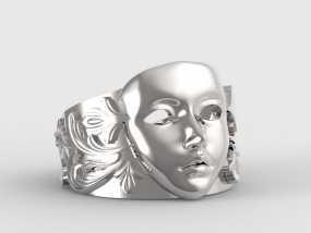 面具戒指 3D打印制作