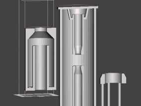 定开距式六氟化硫断路器 3D模型