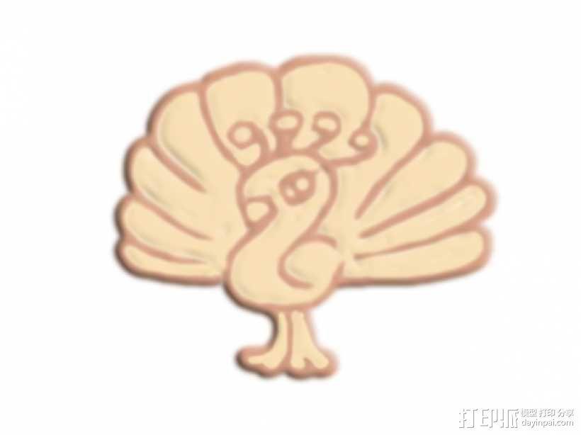 孔雀 3D模型  图1