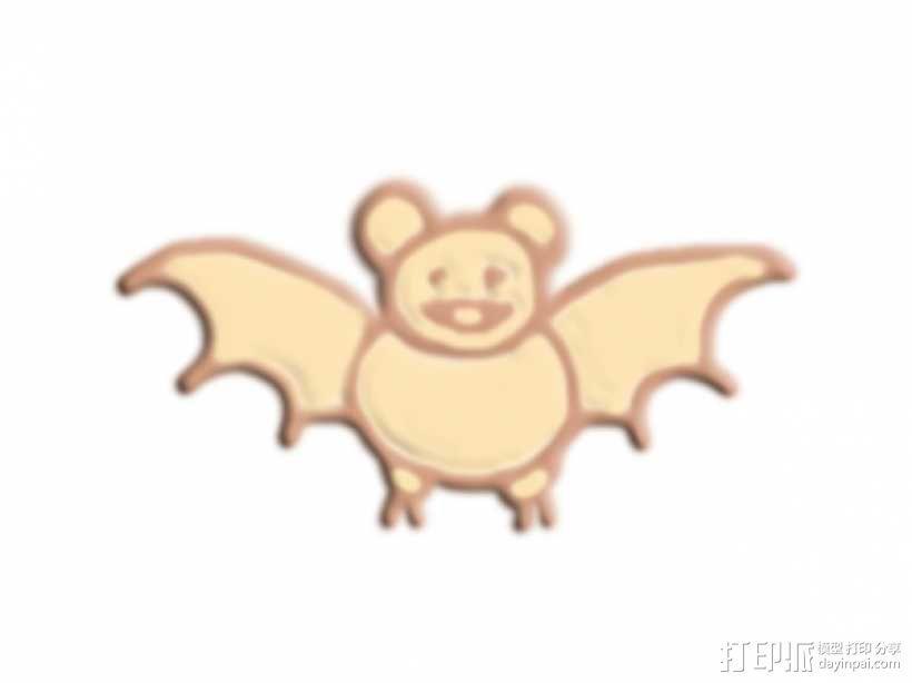 蝙蝠 3D模型  图1