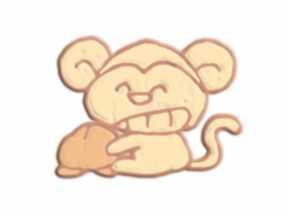 咧嘴笑的猴子 3D模型
