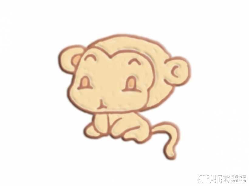 可爱的猴子 3D模型  图1