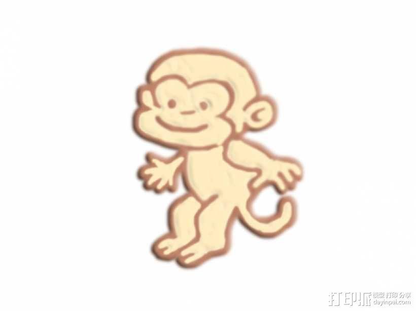 跳跃的猴子 3D模型  图1