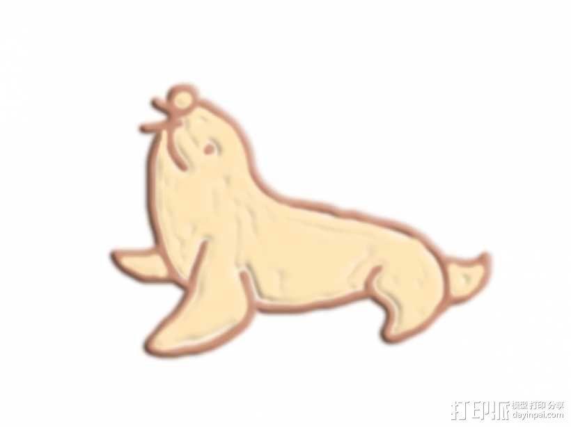 海狮 3D模型  图1