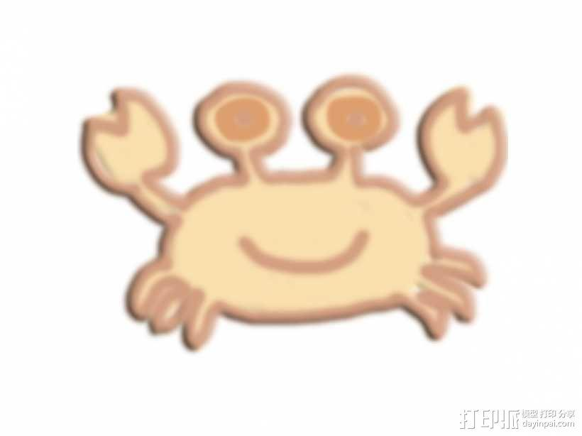 蟹 3D模型  图1