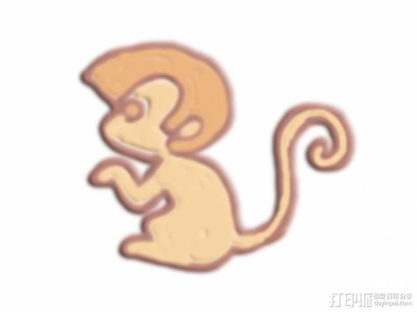 猴子 3D模型  图1