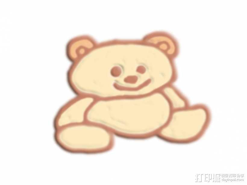 坐着的熊 3D模型  图1