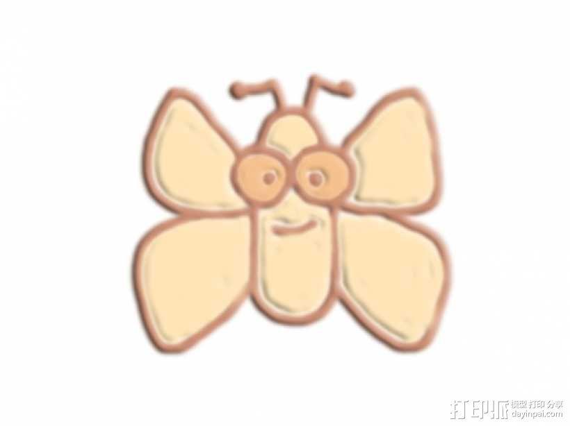卡通蝴蝶 3D模型  图1