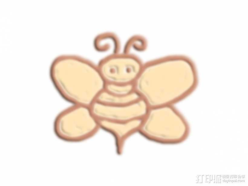 小蜜蜂 3D模型  图1