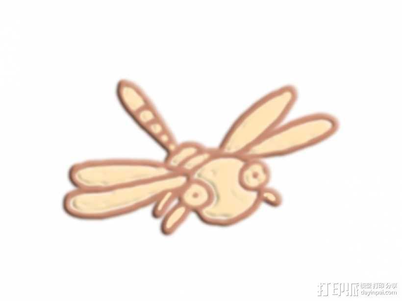 蜻蜓 3D模型  图1