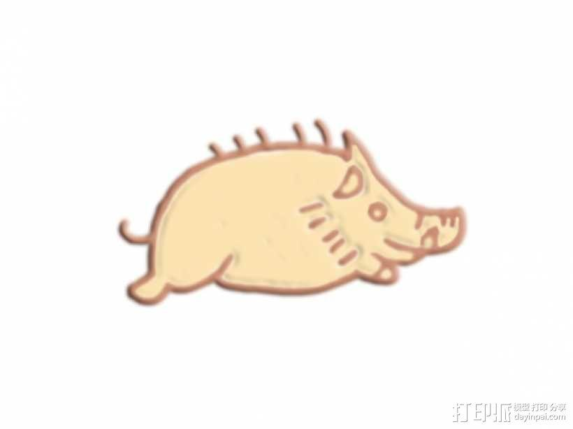 野猪 3D模型  图1