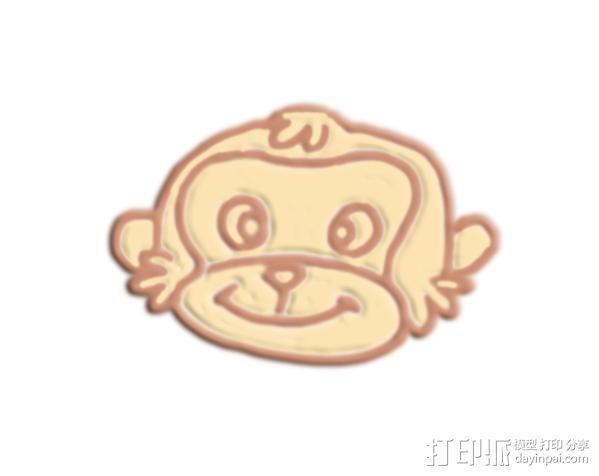 猴脸 3D模型  图1
