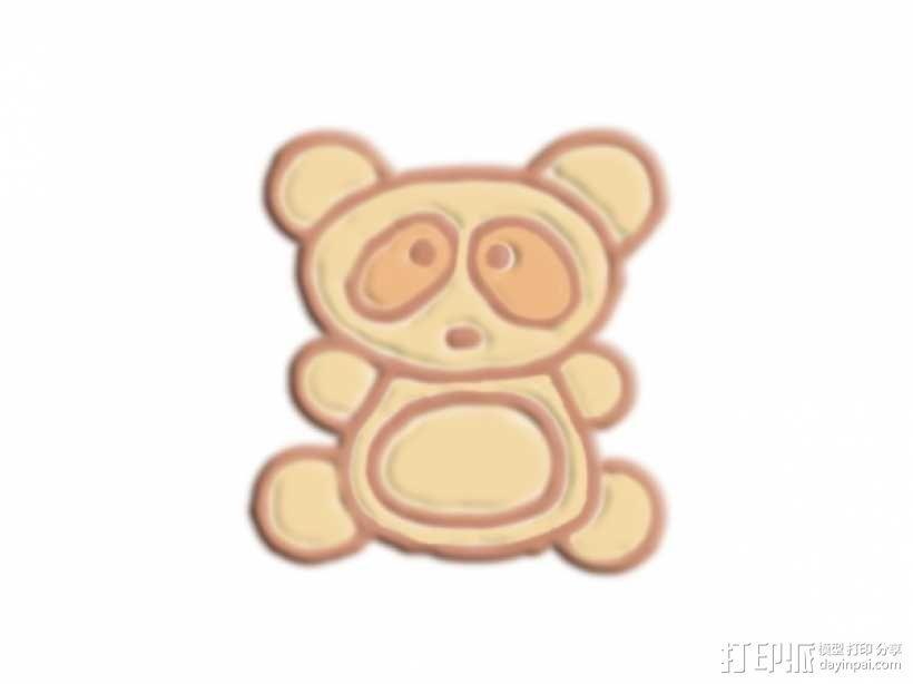 可爱熊 3D模型  图1