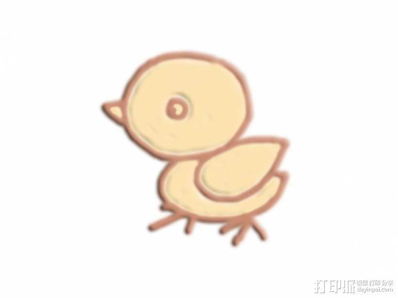 雏鸡 3D模型  图1