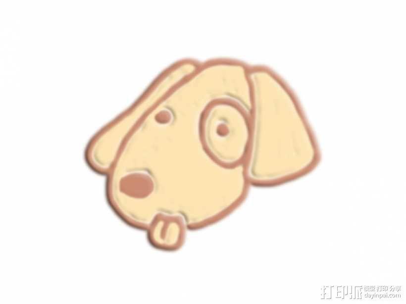 狗头 3D模型  图1