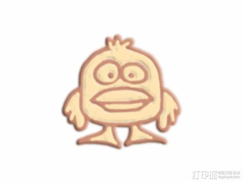 大嘴巴鸭子 3D模型  图1