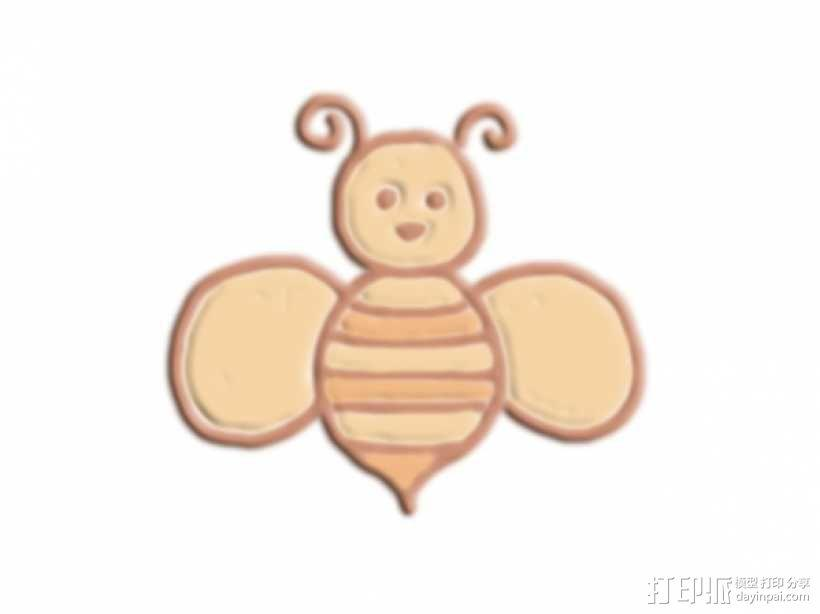 卡通版蜜蜂 3D模型  图1