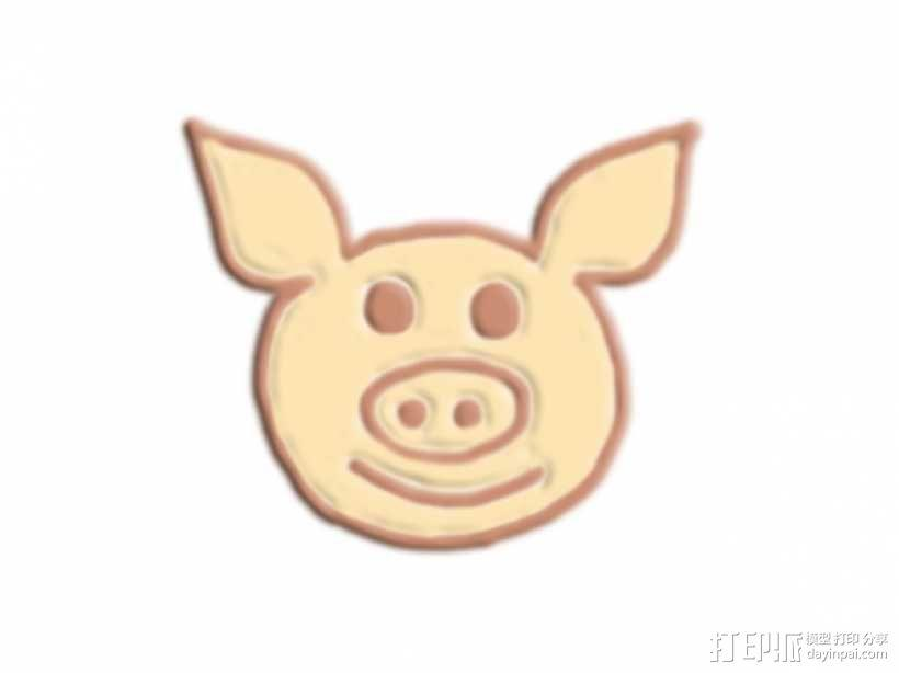 猪头 3D模型  图1