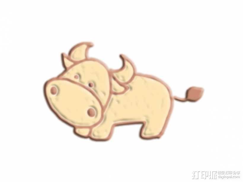 牛 3D模型  图1
