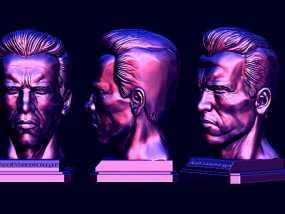阿诺斯瓦辛格头像雕刻 3D模型