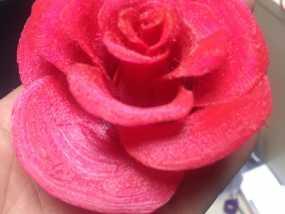 玫瑰花 3D打印制作
