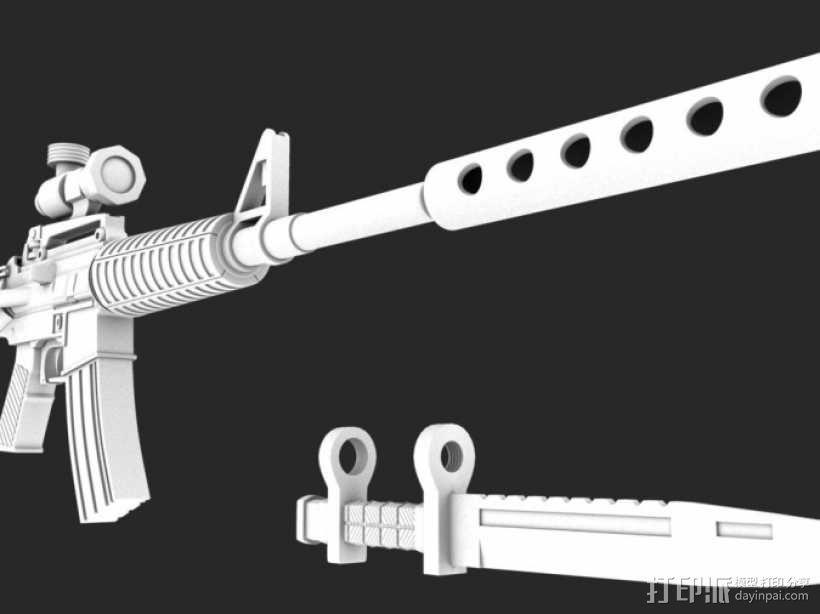 一把枪 3D模型  图1