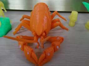 小龙虾 3D打印制作