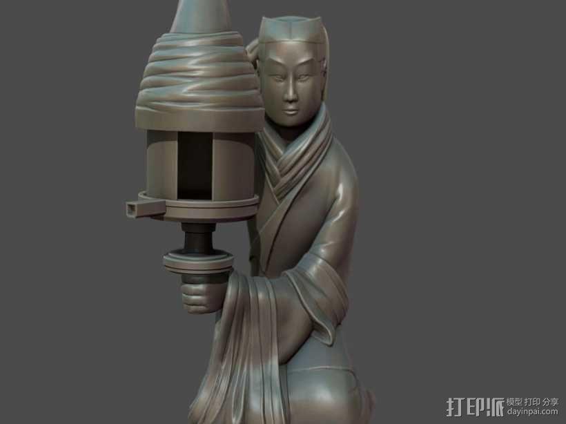 长信宫灯 3D模型  图2