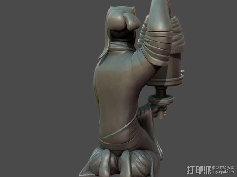 长信宫灯 3D模型  图3