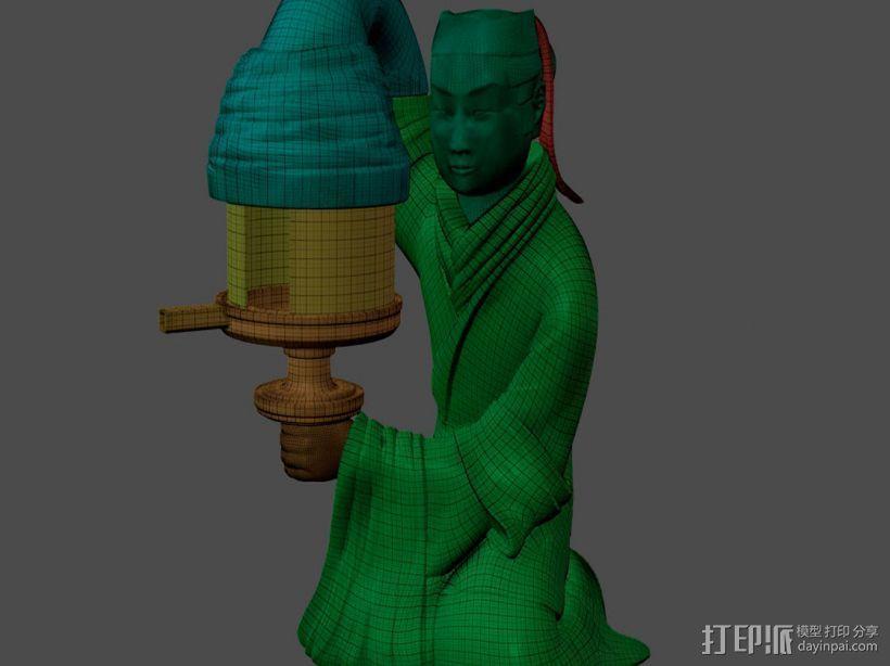 长信宫灯 3D模型  图4