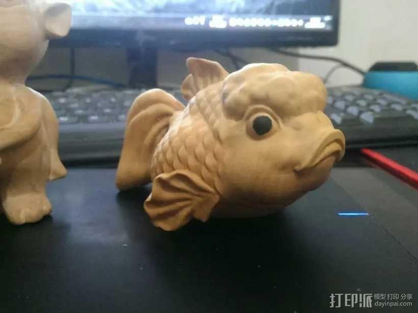 愤怒的小鱼 3D模型  图4