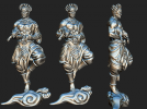 黄财神菩萨 3D模型 图1