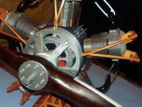 5缸星型发动机 3D模型