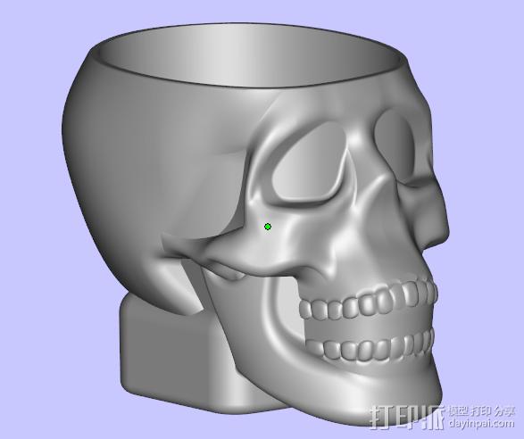 骷髅小酒杯 3D模型  图2