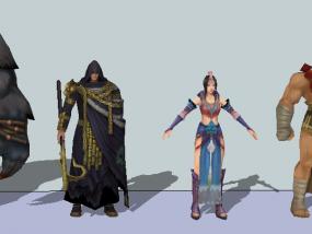 游戏角色 3D模型