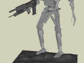T800机器人 3D模型