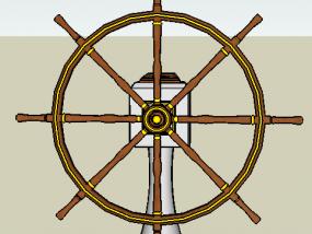 船舵 3D模型