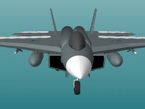 歼击机 3D模型