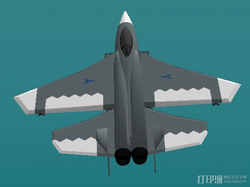 歼击机 3D模型  图3