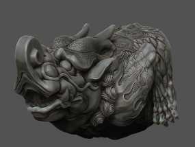 螭首 3D模型