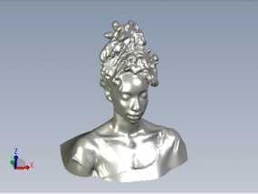 非洲少年 3D模型