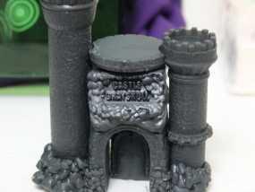 骷髅头城堡 3D打印制作