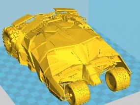 蝙蝠车 3D模型