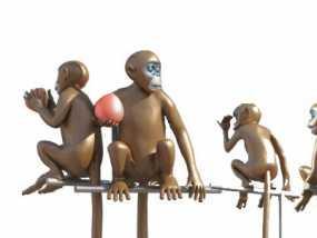 猴子 3D模型